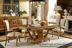 Meja Makan Ukir Klasik Bergaya Eropa