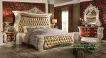 Set Tempat Tidur Mahoni Wood Jepara Mewah