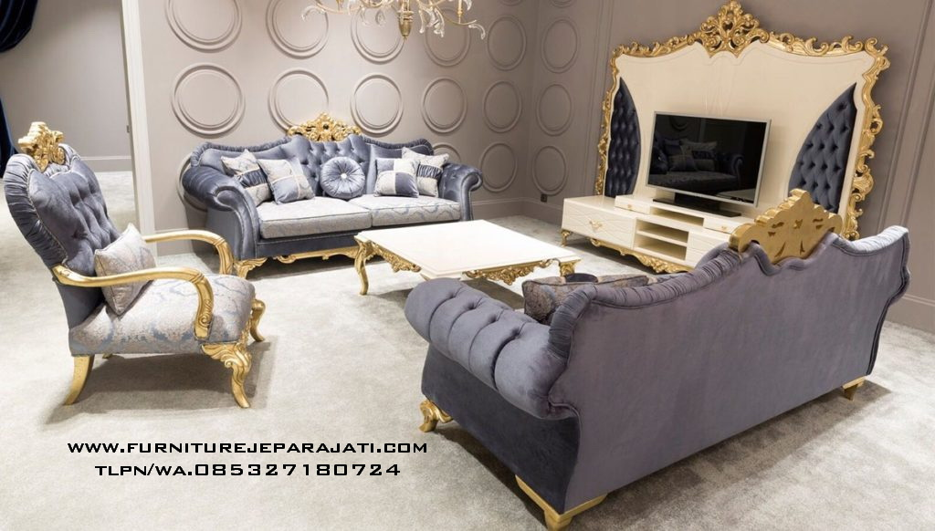 Sofa Tamu Mewah Ukir Klasik Jepara