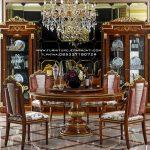 Set Meja Makan Bulat Terbaru Modern Furniture