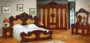 Set Tempat Tidur Victorian Ukir Mewah Luxury