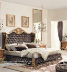 Tempat Tidur Jok Ukiran Klasik Jepara Modern