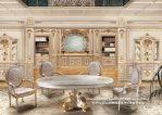 Kursi Meja Makan Mewah Klasik Relief Terbaru Tahun Ini
