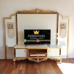 Almari Tv  Kombinasi Backdrop Mewah