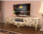 Bufet TV Ukiran Mewah Kombinasi Gold Duco