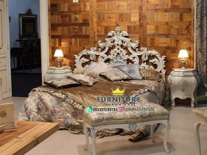 Modern Ukiran Klasik Tempat Tidur Mewah