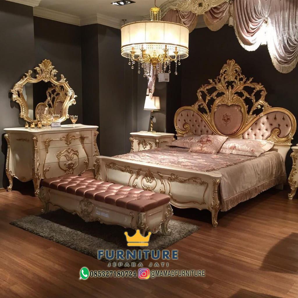 Set Kamar Tidur Luxury Mewah Gold Duco