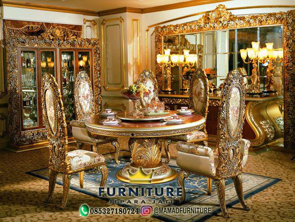 Set Meja Makan Mewah Ukiran Luxury Jepara