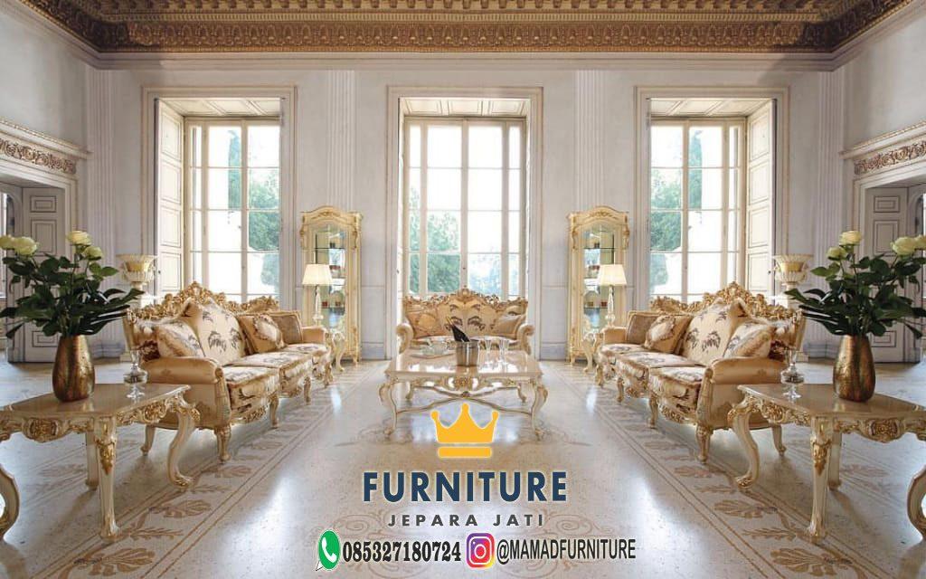 Set Sofa Ruang Tamu Mewah Ukiran Jepara