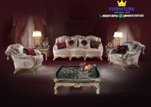Set Sofa Tamu Mewah Modern Jati Jepara