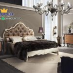 Set Tempat Tidur Minimalis Ukir Jati Kombinasi