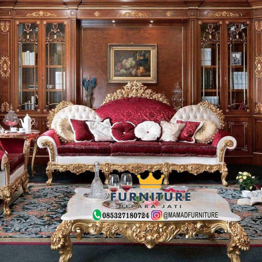 Sofa Ruang Keluarga Mewah Minimalis Jepara