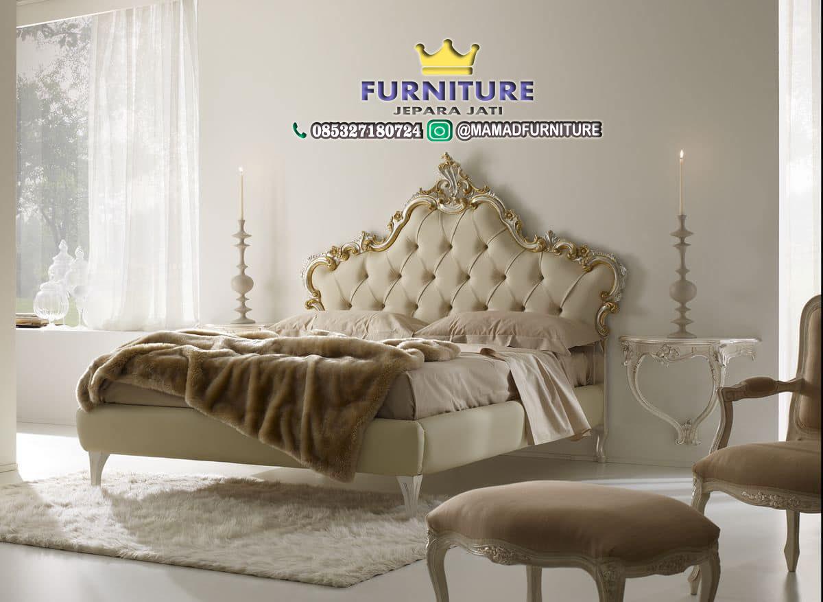 Tempat Tidur Minimalis Ukir Jepara Jati