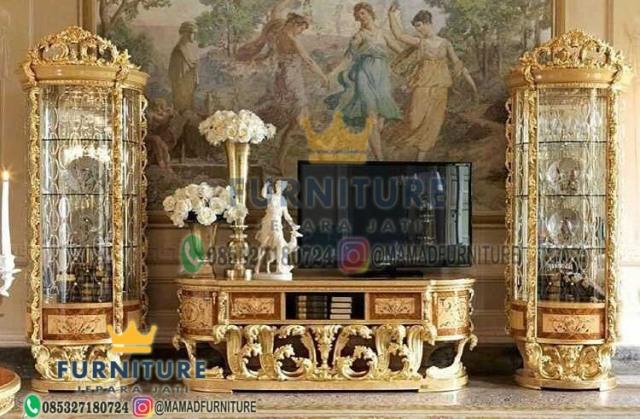 Set Bufet Tv Klasik furniture Jepara Jati