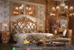 Set Kamar Tidur Klasik Mewah Jati Jepara