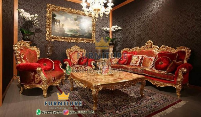 Set Sofa Mewah Gold Duco Jepara Furniture