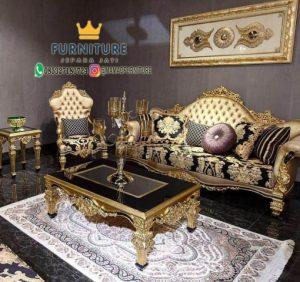 Set Sofa Mewah Meja Kombinasi Marmer
