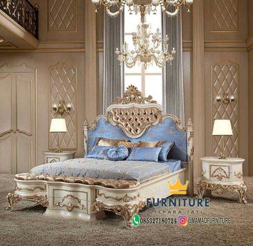 Set Tempat Tidur Luxury Ukiran Jati Klasik