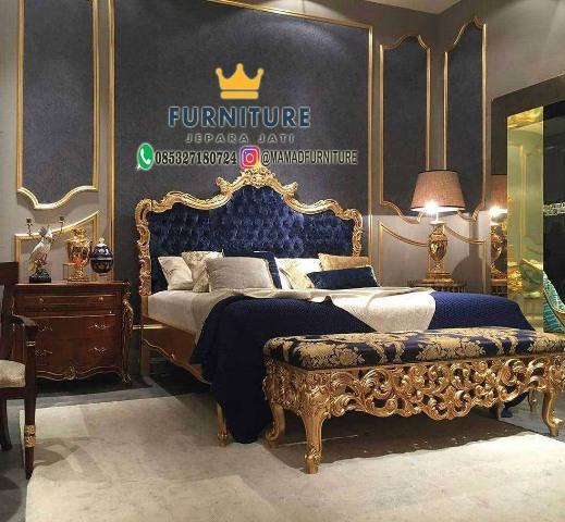 Set Tempat Tidur Mewah Klasik Minera Ukir