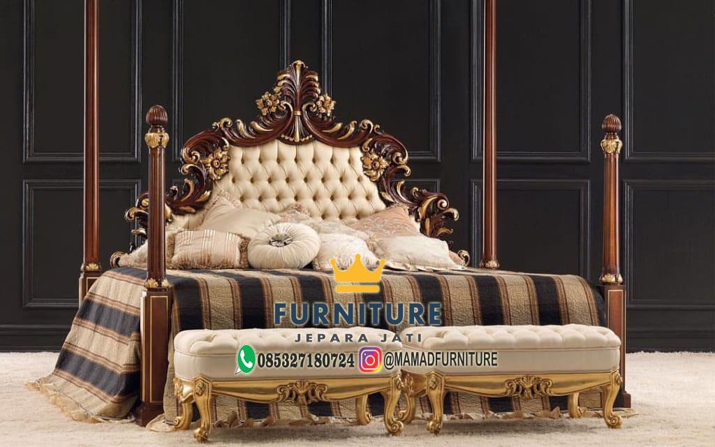 Tempat Tidur Mewah Furniture Jepara Jati