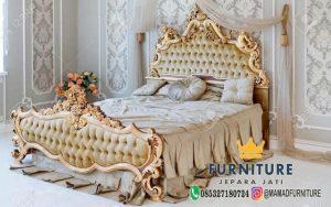 Tempat Tidur Mewah Ukiran Relief Jepara Furniture