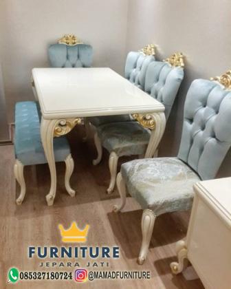 set meja makan mewah kursi sofa