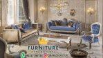 set sofa tamu blue catterfild klasik jepara jati furniture