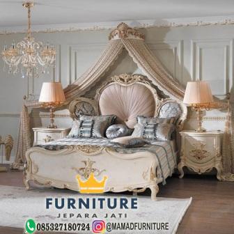 set tempat tidur klasik furniture jepara jati