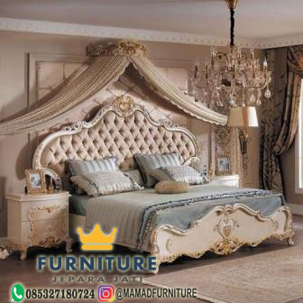 set tempat tidur klasik mewah jepara
