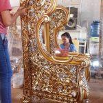 Kursi Tamu Mewah Klasik Model Ukiran Mahkota Raja