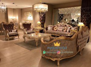 Set Sofa Ukir Ruang Tamu Mewah